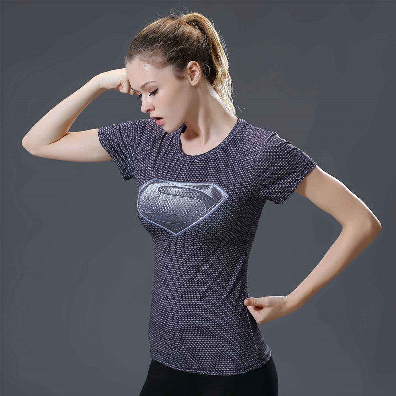 0f69d84de66 2017 Star Wars Cool Avengers Superhero Superman Captain America Casual T  Shirt Women Compression Bodybuilding Shirt -in T-Shirts from Women s  Clothing on ...