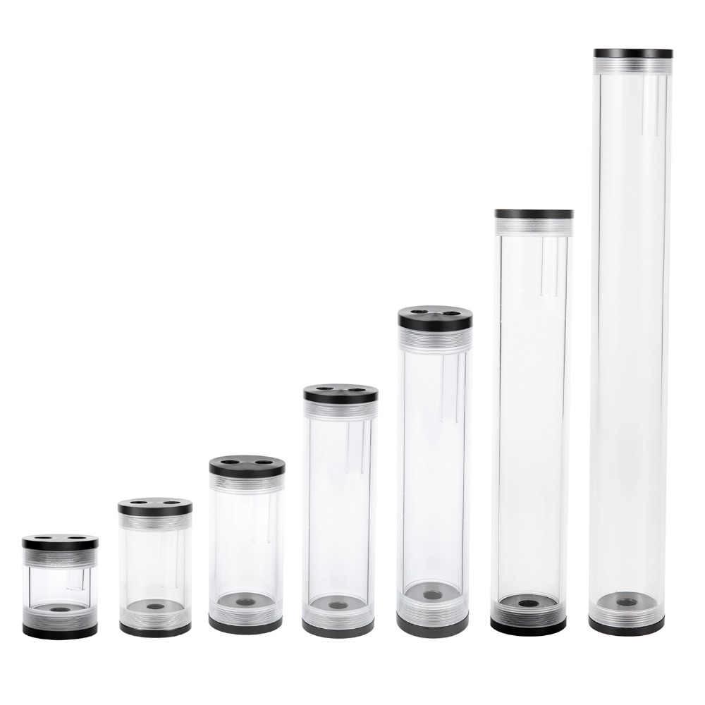 Réservoir de refroidissement par eau multi-type longueur 60/80/110/160/210/275/375mm diamètre 50mm réservoir refroidi par eau cylindrique pour ordinateur