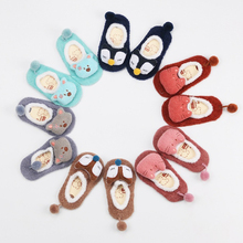 0-5 Years Old Children Floor Socks Autumn Winter Cute Cartoon Baby Doll Anti-slip Rubber Baby Socks Toddler Girl Newborn Socks baby shoe socks autumn winter cotton thickened 0 1 3 years old baby learn walk socks non slip soft bottom children floor socks