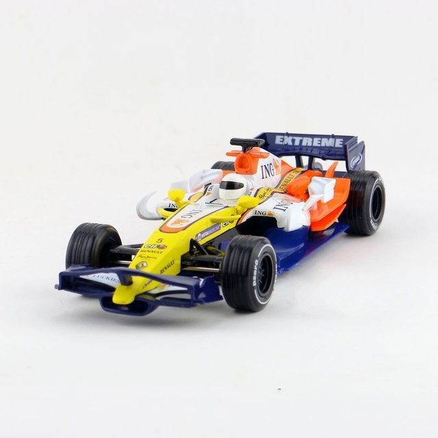 Children Lights & Sound Caipo F1 Racing Diecasts Car 8inch1:32 Diecast Metal Alloy Cars Toy Pull Back Gift For Kids