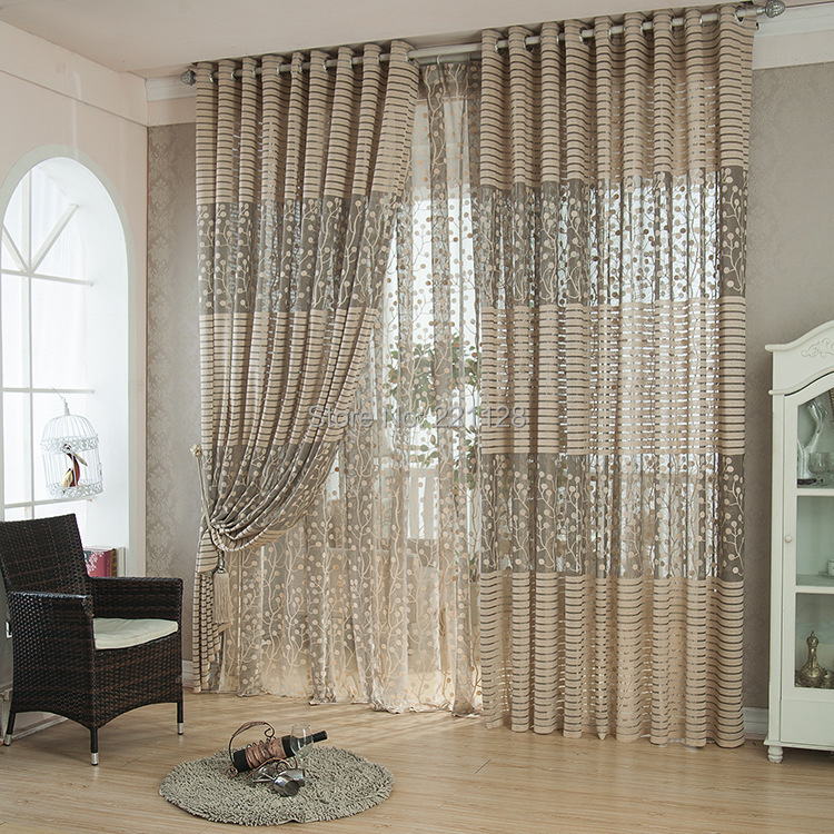 W300cmxH270cm High Grade Sheer Curtain,Living Room Tulle Panel,Voile Curtain  Bedroom Free Shipping
