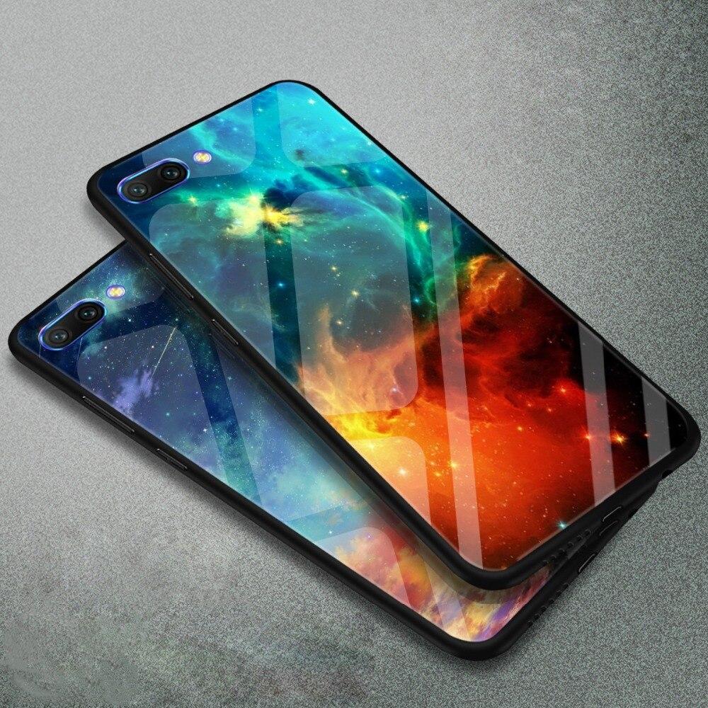 WeeYRN Tempered Glass Phone Case Huawei Honor 10 Honor10 Funda Luxury Case Full