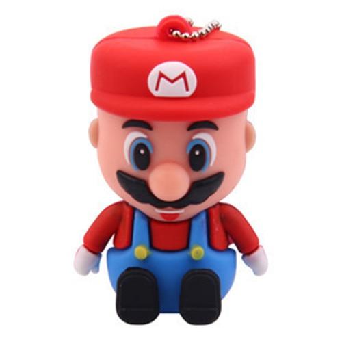 Мультфильм Супер Марио USB флэш-накопитель 8 ГБ 16 ГБ 32 ГБ 64 ГБ флэш-память реальная Ёмкость флешки Stick 128 ГБ 512 ГБ