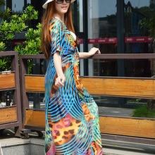 Printed Slit Boho Chic Макси платья из Таиланда