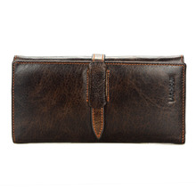 Brand Business Men Wallet Long Genuine Leather Clutch Wallet Purse Male Hasp Design Wallet Male Leather Coin Bag Purses