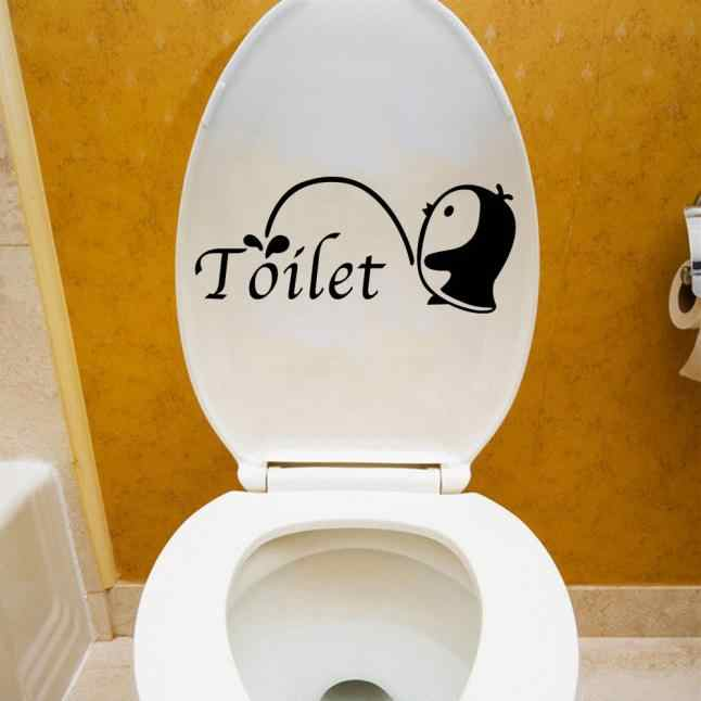 DIY Mural Toilet Seat Stickers Bathroom Decal Vinyl Mural Home Decor Wall Sticker Y