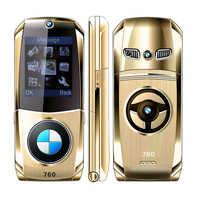 Flip Telefon 760 Voll Metall Auto Modell Schlüssel Design Form Internet E-book Luxus Senior Mobile Handy