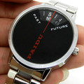 Paidu Simple Design Black Quartz Stainless Steel Band Wrist Watch Mens Boy Digital Turntable Dial Digital Gift Wristwatches