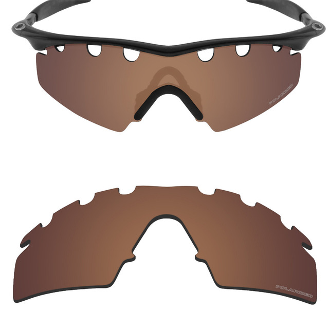 a55e521a96 Mryok+ POLARIZED Resist SeaWater Replacement Lenses for Oakley M Frame  Strike Vented Sunglasses Bronze Brown