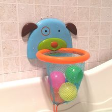 Bath-Toys Baskets Suction-Cup Shower Water-Play Plastic Mini Children for Mesh Net The