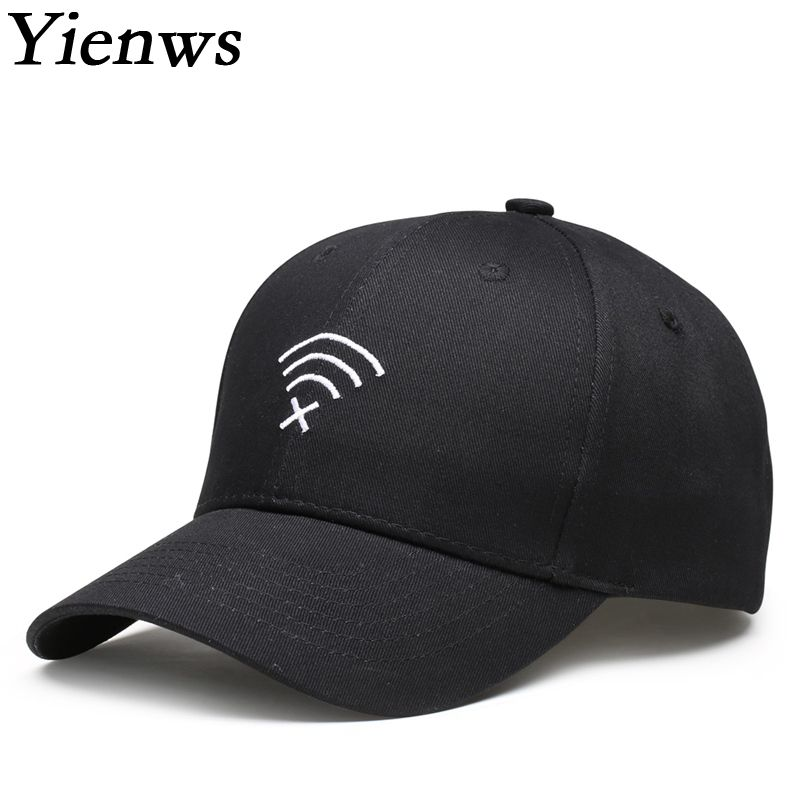 Yienws Designer Cotton Embroidery Plain Baseball Cap For Men Women Bones Masculino Casquette Baseball Black Dad Hats YIC531 2016 new new embroidered hold onto your friends casquette polos baseball cap strapback black white pink for men women cap