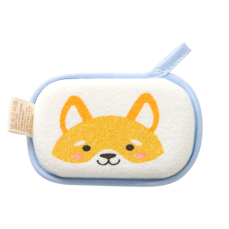 Newborn Super Soft Sponge Baby Bath Shower Brush Towel Cute Catoon Childrens Brush Bath Brushes for Baby Body Bath Cleaning