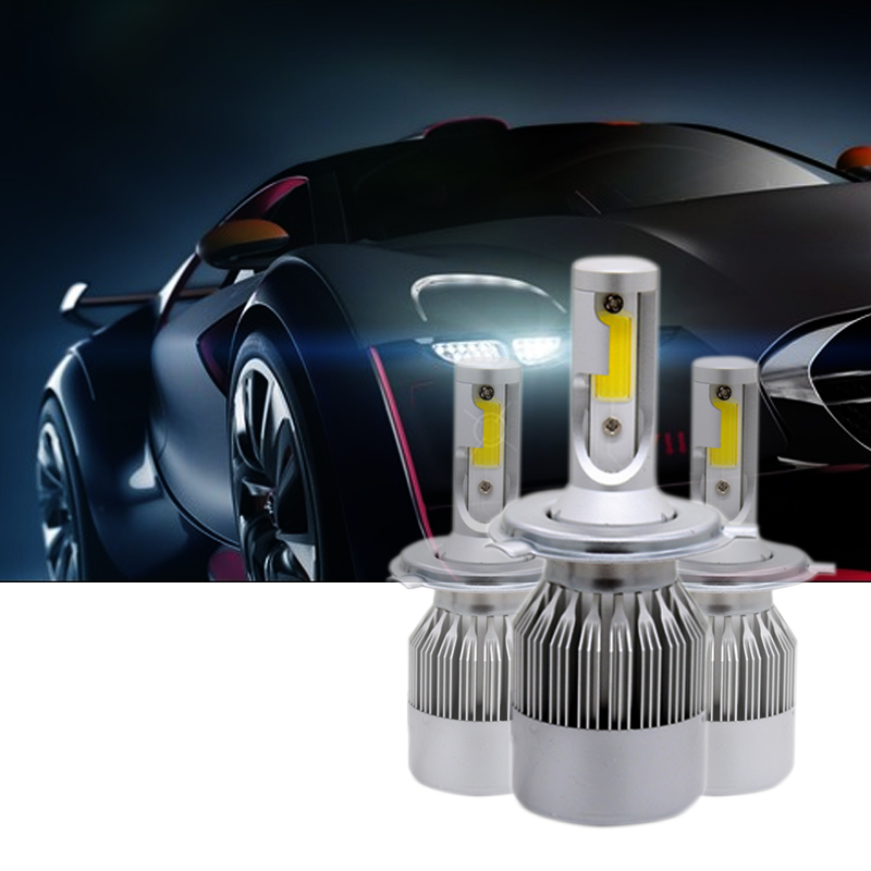 2 шт./пара H1 H3 H7 H11 9005 HB3 9006 HB4 высокое яркий COB C6 Автомобильный светодиодный фар H4 H13 9004/9007 Hi/Lo луч