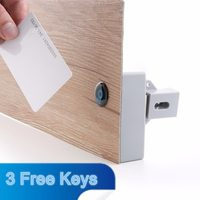 Battery RFID IC Card Sensor Cabinet Drawer Smart Lock DIY Invisible Hidden Digital Lock without Perforate Hole Intelligent