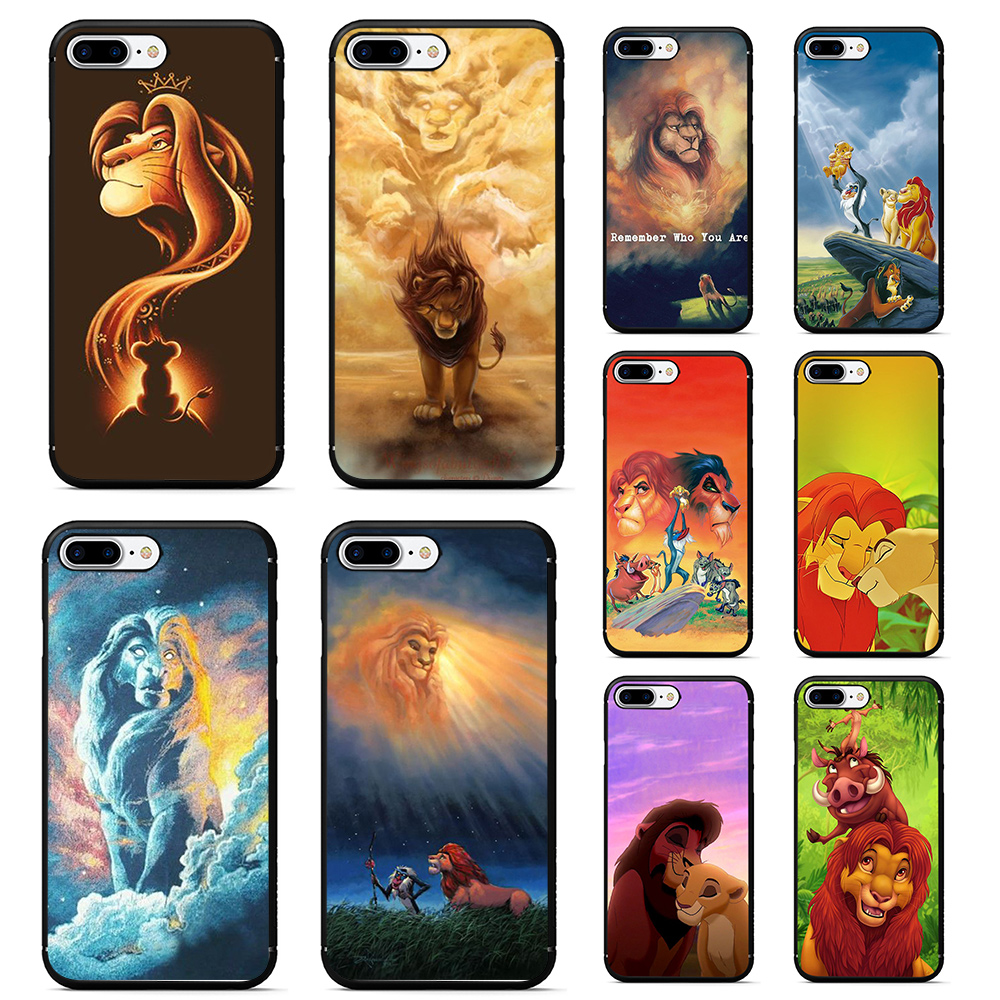 le roi <font><b>lion</b></font> <font><b>case</b></font> for <font><b>iphone</b></font> 7 plus soft tpu phone cover for <font><b>iphone</b></font> <font><b>6</b></font> 7 6s 7 plus X XR XS MAX <font><b>Lion</b></font> <font><b>King</b></font> nala simba timon coque image