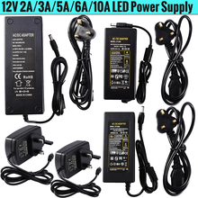 12V 2A 3A 5A 6A 10A AC 100V - 240V to DC  lighting transformers Power Supply Adapter Converter Charger For LED Strip light D25 ac 100v 240v converter adapter to dc12v 1a 2a 3a 4a 5a 6a power supply for 3528 5050 5730 led flexible tape strip light
