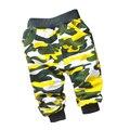 2016 Venta Caliente de primavera de algodón de Alta Calidad de estilo militar 0-2 año de Camuflaje pantalones deportivos pantalones harén pantalones del bebé del bebé pantalones de las muchachas