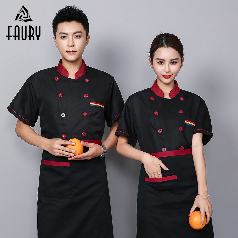 Chef Uniform Back Breathable Mesh Fabric Summer Wholesale Logo Custom Uniforme Kitchen Cook Jacket Barbers Shushi Shop Clothes