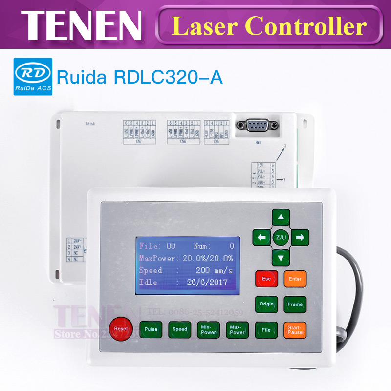 Ruida RDLC320 A CO2 Laser Controller RD RDLC320 Motherboard CNC Mainboard Display Panel For Co2 Laser