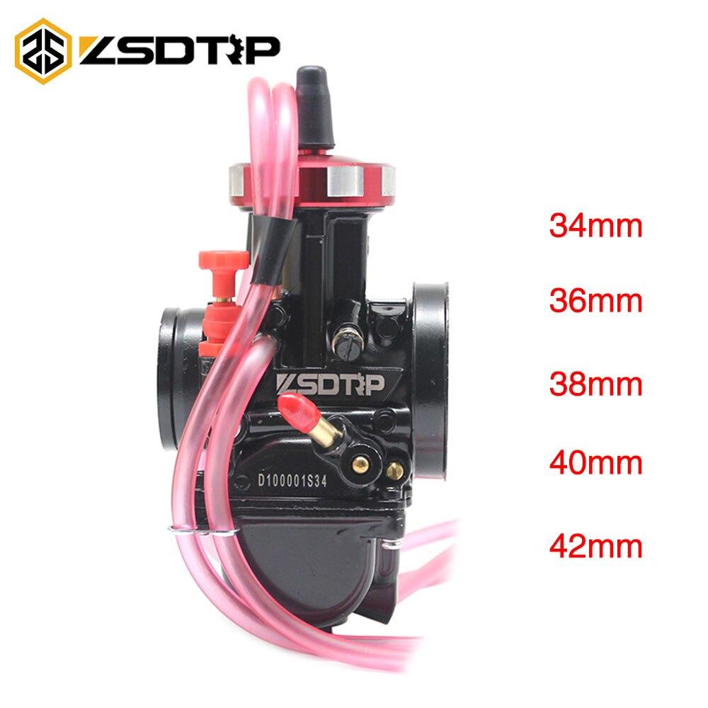 Carburateur ZSDTRP PWK 34 36 38 40 42mm pour moteur de course tout-terrain ATV UTV 150-600 cc 2 T-4 T