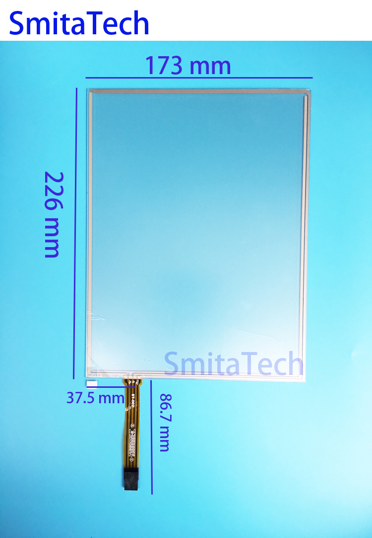 10.4 inch Wide cable 173mm*226mm 4wire Resistive Touch screen Digitizer panel ST-104003 226x173mm new 3 5 inch 4wire resistive touch panel digitizer screen for texet tn 300 gps free shipping