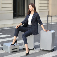 100% All Aluminum Rolling Luggage bag, Metal Hardside Trolley travel Suitcase case Carry on box with spinner Wheel