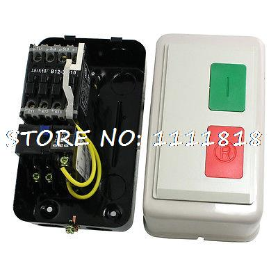 AC 220V 7.5-11A 8HP Three 3 Phase Motor Control Magnetic Starter Contactor beroun hs650 10kw three phase 380v single phase 220v power remote control thermostat temperature control switch