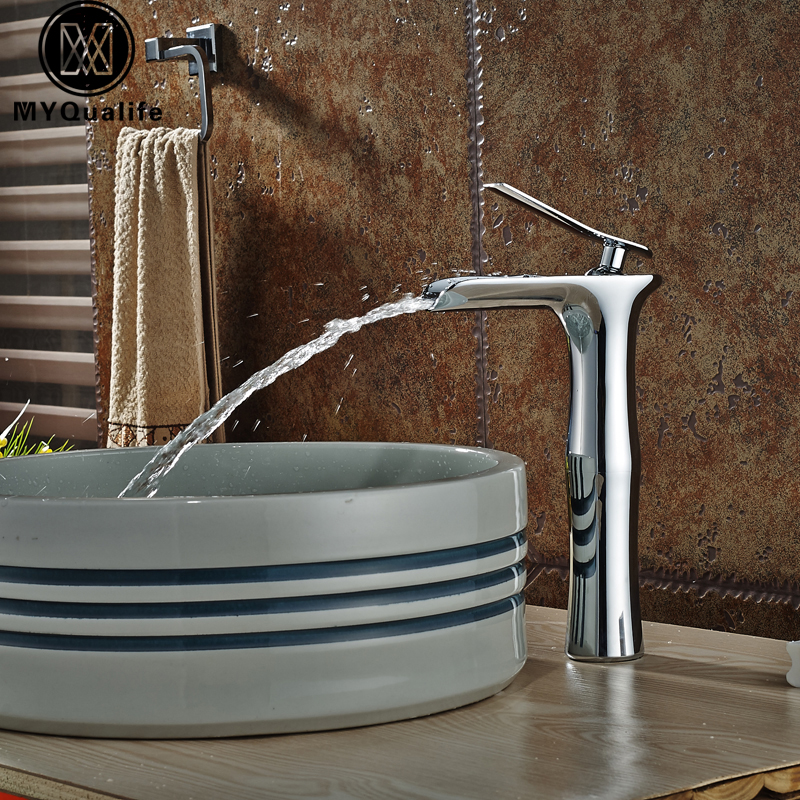 Wholesale and Retail Cheap Basin Sink Countertop Faucet Chrome Finish Deck Mounted Water Faucet wholesale and retail chrome finish bathroom wall mounted basin sink countertop faucet