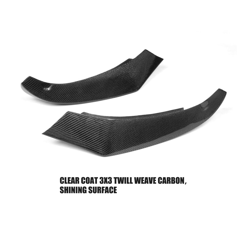 Carbon fiber auto front lip splitter flaps for bmw 4 series f32 f33 435i m sport coupe convertible 2 door 2014 2016 in bumpers from automobiles