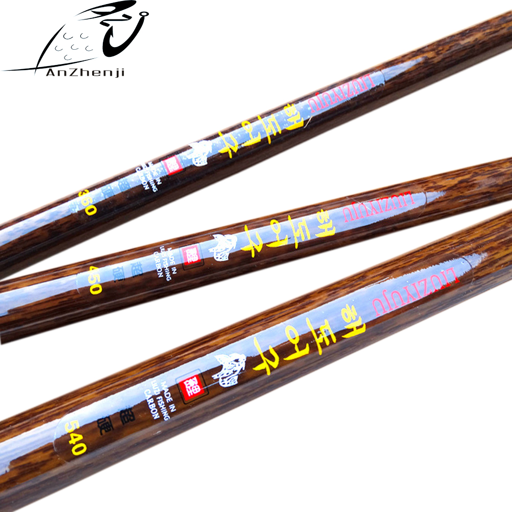 2017 Anzhenji Carbon Fishing Rod 3 6m 6 3m Taiwan Stream Hand Rod Pole