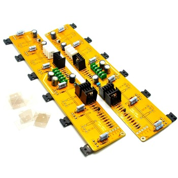 One Pair Single-Ended 2*PASS A5 HIFI  Power Amplifier Board  IRF244 IRF9610 60W+60W DC35V / with balanced input unbalanced input