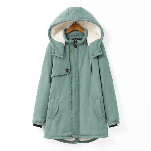 New2016Winter plus size fashion cute hooded cashmere coat long warm thicken lambswool padded women overcoat sherpa jackets 4XL