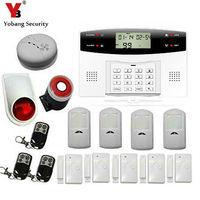 YobangSecurity Wireless GSM Home Security Burglar Alarm System Russian French Spanish Italian Voice Smoke Door PIR