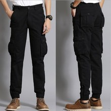Fashion Cargo Pants Men Loose Baggy Trousers Men's Sweat Trousers Casual Clothing Male Overalls Mens Pants Black Khaki Blue