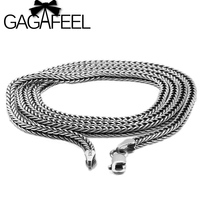 Wholesale 100 Real Pure 925 Sterling Silver Necklace Brand Thick Chain Men Gift Thai Silver Long
