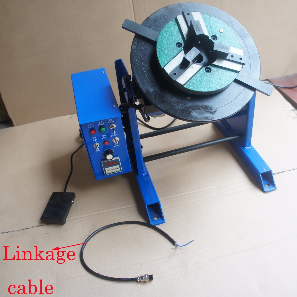 1~15RPM 30KG Duty Welding Positioner Turntable Timing with 200mm Chuck 220V//110V