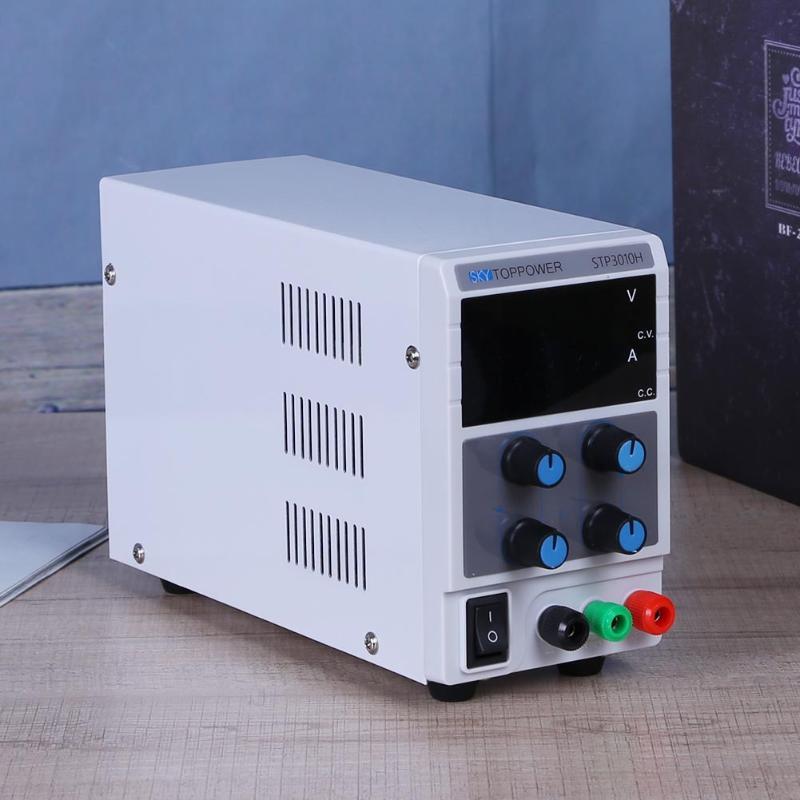 0-30V 0-10A Adjustable Digital Display DC Power Supply Switching Power Source (US) voltage regulator 4 Bit Digital Display sw3010d mini digital dc regulator adjustable power supplier 30v 10a 110v 220v voltage switching power supply