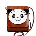 Moda de Ocio de la Muchacha Lindo Solo Hombro Flap Bag Panda Encantadora Mini Bolso Crossbody Mujeres Messenger Bag PU Bolso de Cuero PP-592