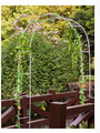Iron arches wedding flowers. Flower. Climbing frame road lead rack White