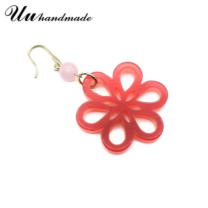 2018 Pendientes Mujer Earing Jewelry Earings Fashion Flower Drop Long Earrings For Women Bohemia Cute Earring India Brincos