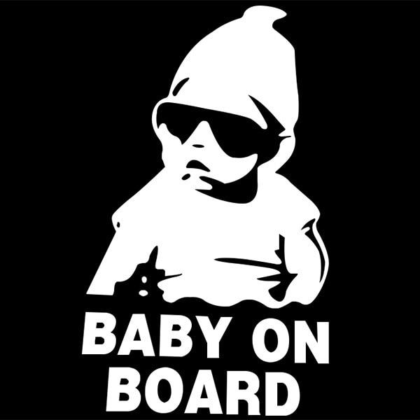 Aliexpress com beli 15 9 cm reflektif tahan air lucu bayi di papan mobil stiker peringatan decals styling mobil 2 warna dari handal sticker remover car