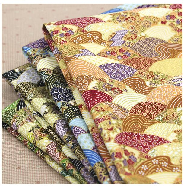 4style crafts materials brocade fabric,upholstery fabric for furniture,Japanese gilding and wind,sector pattern,50*110CM,W025