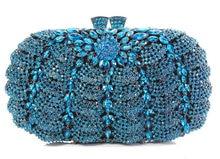 GQ2 2016 new design hot sale elegant and luxury Rhinestones African Handbag for wedding/party