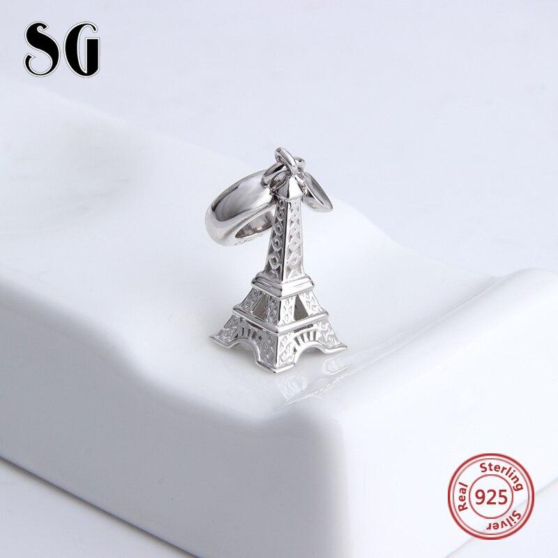 e12dd35e69c8 Encantos auténtico europeo de plata de 925 Original París antiguo Cramp  Iron pulseras de Cuentas Europeo de plata-joyería de