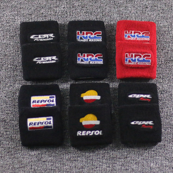 FREE SHIPPING Motorcycle Front Brake Fluid Oil Reservoir Tank Cover Socks For Honda CBR Fireblade Motor Reservoir Sock Cuff welly 12164p велли модель мотоцикла 1 18 motorcycle honda cbr900rr fireblade