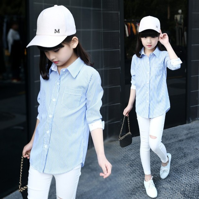 Kids girls 2017 new spring shirts long sleeves korean pretty girl kids girls 2017 new spring shirts long sleeves korean pretty girl children long girls shirts blue voltagebd Gallery
