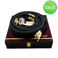 Choseal LA 5101 6N OCC Audiophile HIFI Speaker Cable 24K gold plated banana plug Top level Speaker Cable Top class cable 2.5m