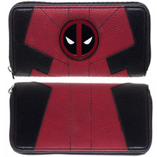 Lady's purses Large Capacity Wallets Female Purse Marvel Comics Deadpool Juniors Suit Up Zip Around Wallet(China)