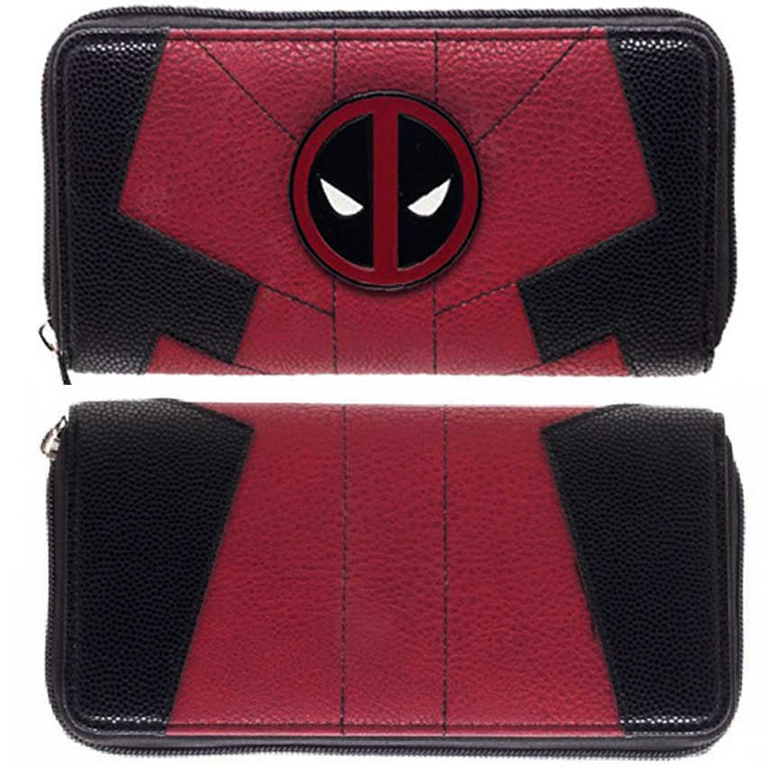 Lady's purses Large Capacity Wallets Female Purse Marvel Comics Deadpool Juniors Suit Up Zip Around Wallet