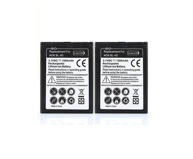 Livraison Gratuite 2X Remplacement 1500 mAh Batterie BL-4D Pour Nokia N97 Mini N8 N8-00 d'occasion  Livré partout en France